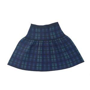 Cynthia Rowley Stretchy Plaid Mini Skirt Size: XS